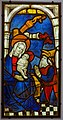 Aphrodisius worshipping the Child, from the Pfarrkirche in Partenheim, Middle Rhine, c. 1440, stained and painted glass - Hessisches Landesmuseum Darmstadt - Darmstadt, Germany - DSC00138.jpg