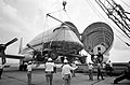 Apollo 11 CM loading into Super Guppy aircraft (S69-41985).jpg