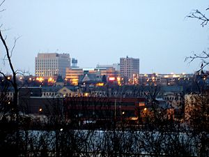 English: The skyline of Appleton, Wisconsin as...