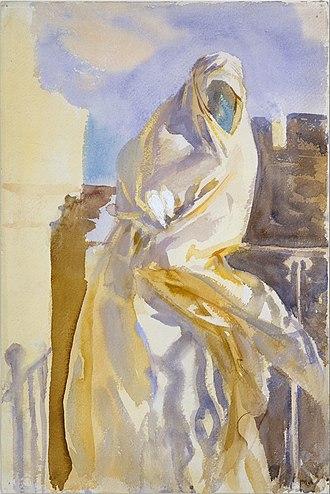 Arab Woman (watercolor) - Image: Arab Woman MET DT235913