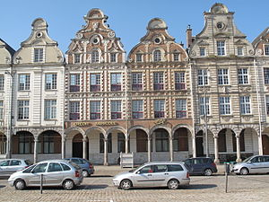 Dutch gable - Typical facade in Arras, northern France