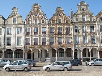 Dutch gable - Typical facade in Arras, northern France