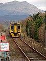 Arriva Wales train approaching Tygwyn Station - geograph.org.uk - 1074866.jpg