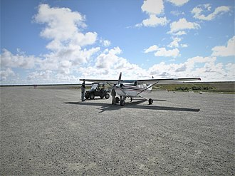 Tuntutuliak Airport - Image: Arrival in Tuntutuliak (9688445810)