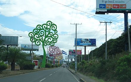 Trees of Life installation on the streets of Managua Artificial flowers on the streets of the city.jpg