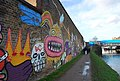 Artistic Graffiti on a wall by the Lea Valley Navigation, South of White Post Lane Bridge - geograph.org.uk - 1128506.jpg
