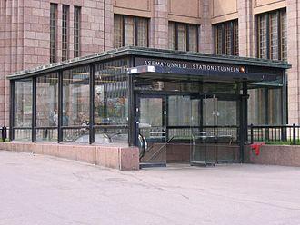 Central railway station metro station (Helsinki) - Image: Asematunneli access Helsinki