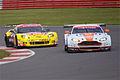 Aston Martin Racing's Aston Martin Vantage V8 and Larbre Competition's Chevrolet Corvette C6 ZR1 (8669661594).jpg