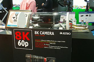 8K resolution - Astro Design 8K camera being displayed at the 2013 NAB Show