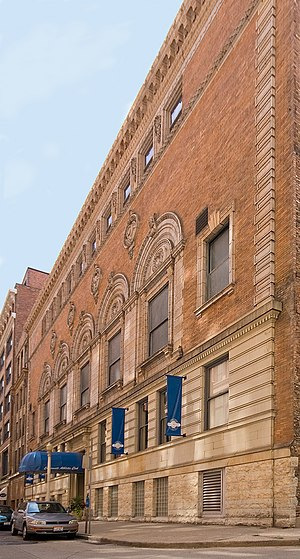Cincinnati Gymnasium and Athletic Club - Front and side of the building