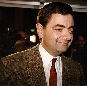 Rowan Atkinson dans son costume de Mr Bean.