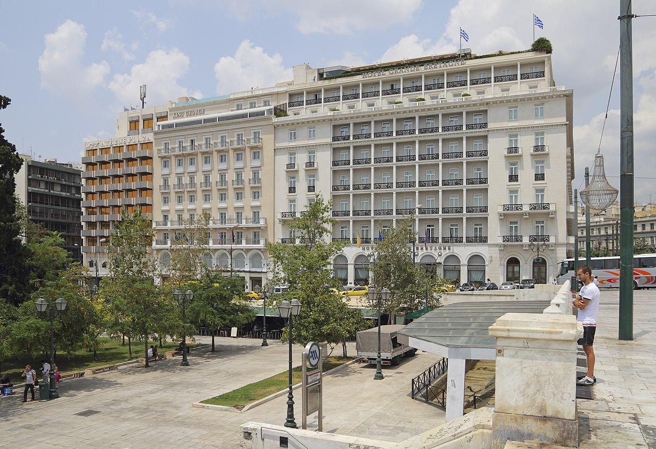 Plaza Hotel Athens Refugees
