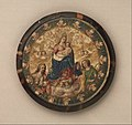 Attributed to Andrés Lagarto, Mexican - Nun's Shield showing the Virgin and Child with Saints John the Baptist and Catherine of Alexandria (?) - Google Art Project.jpg