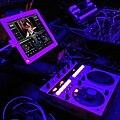 Audiovisual gearporn #av #edm #gear #shadowtravel #tour #trap #purple #pioneer #ipad #vjay #staybrite #atergram from last night (by j bizzie) 2014-06-04.jpg
