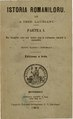 August Treboniu Laurian - Istoria romaniloru. Volumul 1 - Din timpurile celle mai vechi pînă la prefacerea statuluǐ în monarchiă - pentru classea.pdf