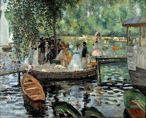 """""""La Grenouillère"""" by Pierre-Auguste Renoir"""
