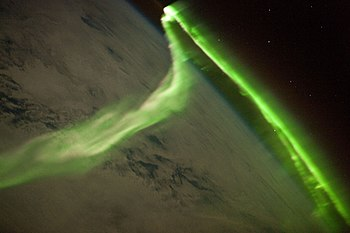 Aurora during a geomagnetic storm that was mos...
