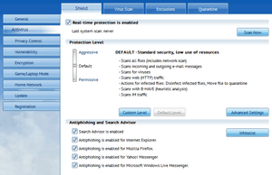 English: Screenshot of Antivirus 2011 which is...