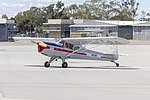 Auster J-4 Archer (VH-CRR) taxiing at Wagga Wagga Airport.jpg