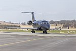 Australian Corporate Jet Centres (VH-SCR) Bombardier CL-600-2B16 Challenger 604 taxiing at Wagga Wagga Airport.jpg