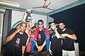 Australian hip-hop group, MSON (Making Something Outta Nothing) backstage at the Darwin Street Art Festival 2021.jpg