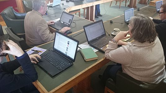 Authors of Wales Wiki15 Edit-a-thon 02.JPG