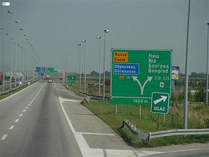A3 motorway (Serbia) - A3 near Dobanovci interchange