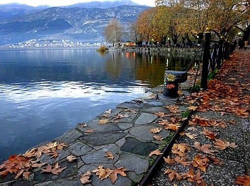 Autumn at the lake of Ioannina