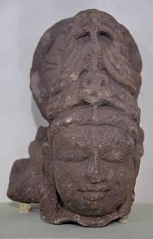 Sanchi Archaeological Museum - Image: Avalokitesvara Head Sandstone Circa 12th Century AD Sanchi Archaeological Museum Sanchi Madhya Pradesh Indian Buddhist Art Exhibition Indian Museum Kolkata 2012 12 21 2296