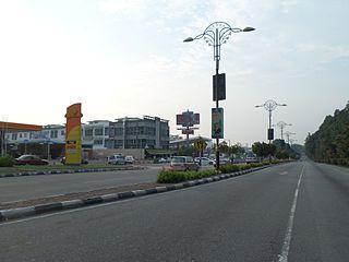 Lebuh Ayer Keroh road in Malaysia