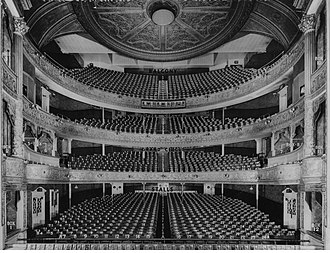 Theatre Royal, Glasgow - Theatre Royal, Hope Street, Glasgow auditorium about 1930