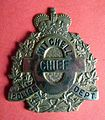 BADGE - Canada - ON - Town of Mitchell Police (defunct 1997) Chief Badge (7935932100).jpg