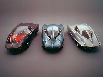 Alfa Romeo BAT - The Three Original BAT cars. From left: BAT 5, BAT 7, BAT 9