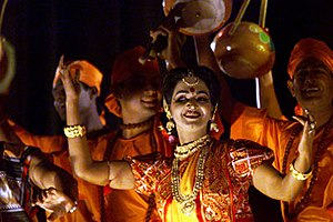 Culture of Bangladesh - Bangladeshi artists performing in a dance show.
