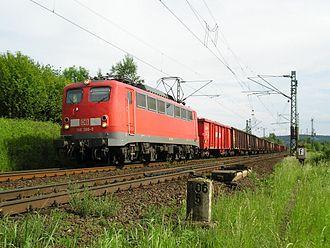 East Rhine Railway - Freight train north of Unkel