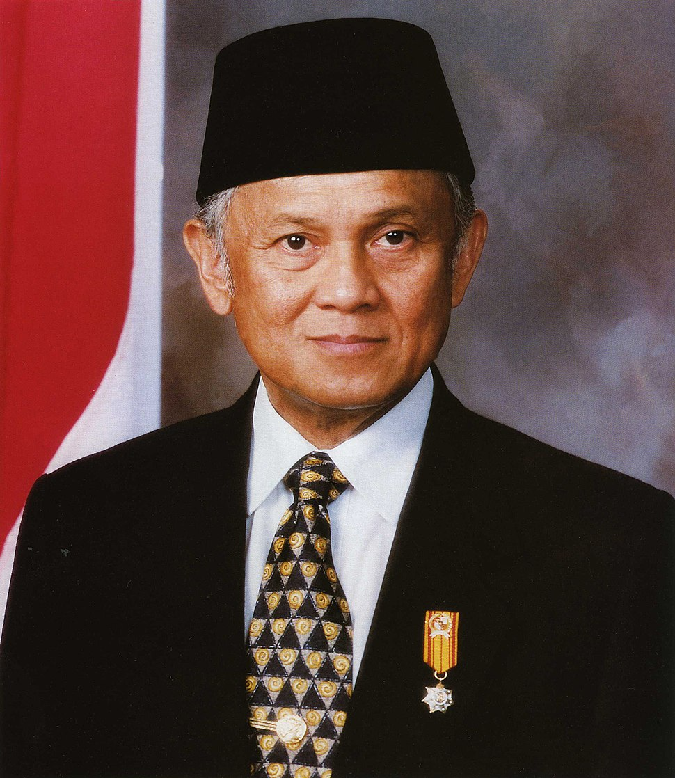 Bacharuddin Jusuf Habibie en 1998.