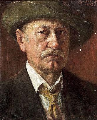 Ottó Baditz - Self-portrait (1913)