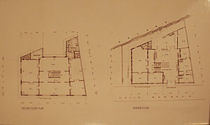 Bahay Nakpil-Bautista - Postcard showing the floor plans of the house