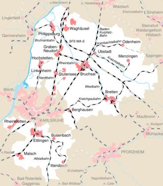 Karlsruhe Karte Umgebung.Landkreis Karlsruhe Wikipedia