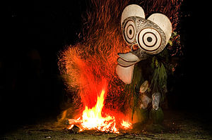Culture of Papua New Guinea - Fire Dancers of the Baining Tribe.