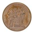 Baksida av medalj med bild av tre kvinnor vid ett altare - Skoklosters slott - 99290.tif