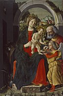 Baldassare Carrari - The Holy Family with an Angel - Walters 37546.jpg