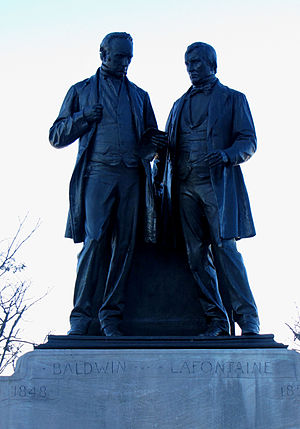 Louis-Hippolyte Lafontaine - Monument of Robert Baldwin and Louis-Hippolyte LaFontaine in Ottawa