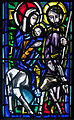 Ballinasloe St. Michael's Church North Aisle Fourth Window Holy Family by Patrick Pollen Detail Flight into Egypt 2010 09 15.jpg