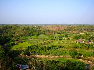 Buddha Dhatu Jadi - View of lush green Bandarban hills and valley