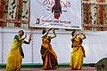 Bangladesh Udichi Shilpigoshthi - Chittagong University Sangsad celebrating Pohela Falgun 1423 at CU Muktomoncho (02).jpg