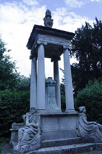 Banister Fletcher (senior) - Banister Fletcher's tomb in West Hampstead Cemetery