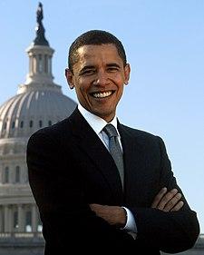 Barak Obama, candidato demócrata a la presidencia de los EE.UU. en las elecciones de 2008