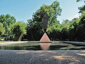 Barnett Newman - Broken Obelisk, Rothko Chapel, Houston, Texas