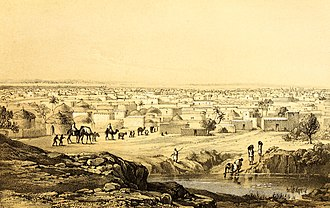 Kano - 1857 engraving of Kano, drawn after a sketch by Heinrich Barth